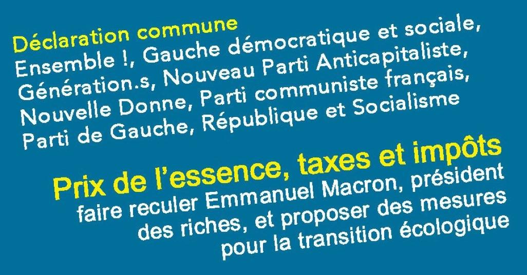 Transition écologique : les contre-propositions de huit forces de gauche