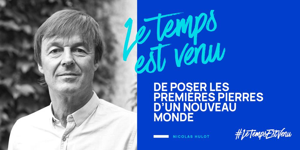 """""""Le temps est venu"""" : les 100 propositions de la fondation Nicolas Hulot"""