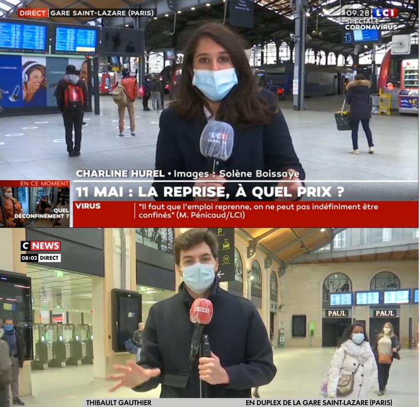 Déconfinement : médias expulsés de la gare du Nord !