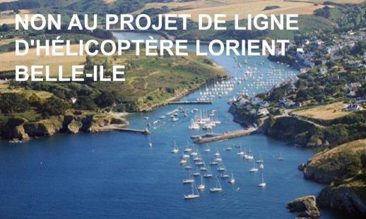Non au projet de ligne d'hélico Lorient Belle-Île
